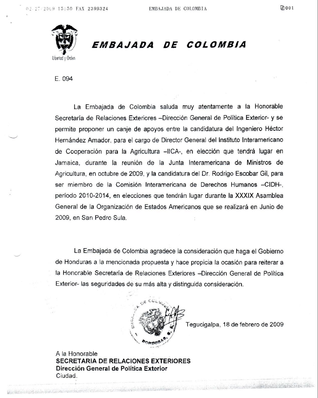 Curriculum Vitae | Candidato Honduras IICA
